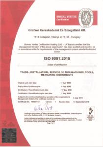 ISO tanúsítvány ENG
